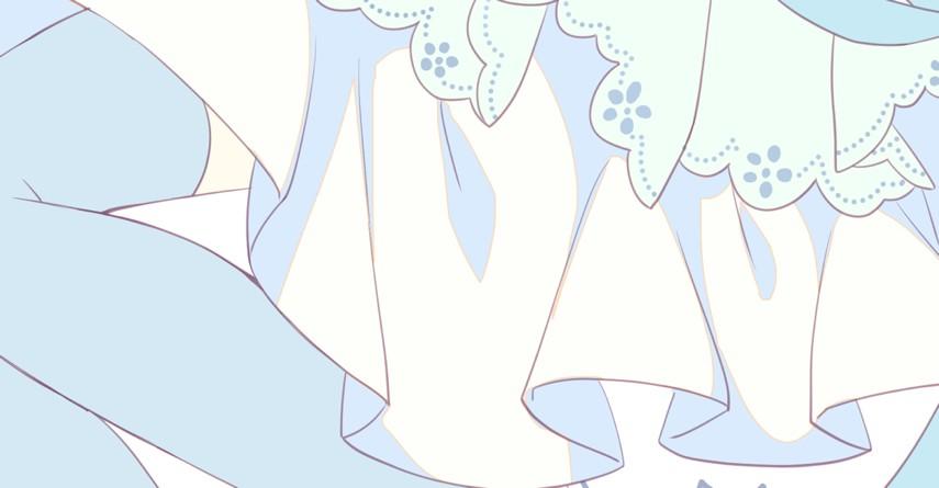 ドレスの影
