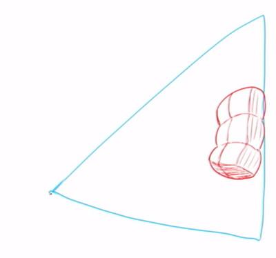 三等分されたマシュマロのイメージ