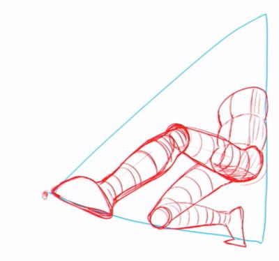 片方の脚も描く