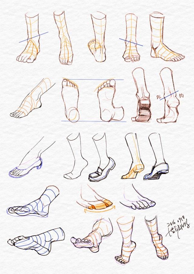 足の描き方 イラストbyrabimaru.t