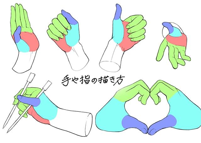 手や指の描き方 イラストbyにゃんたろー
