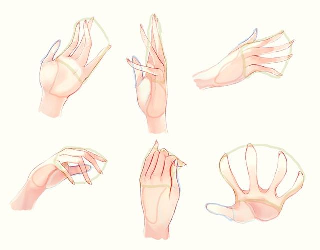 様々な手の描き方 イラストby tmp