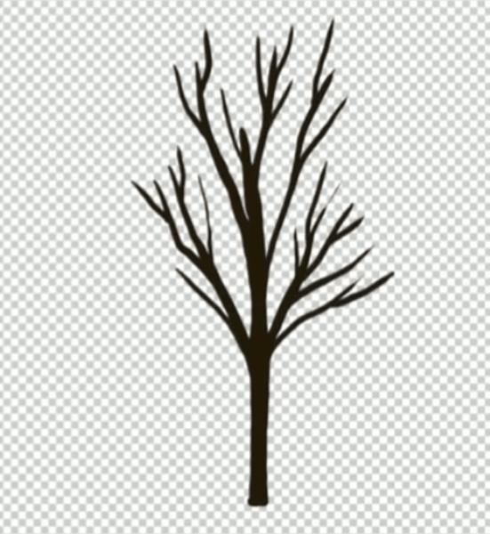 樹の幹を描く