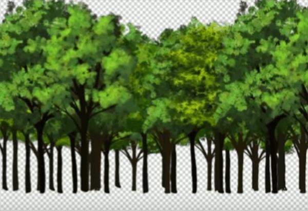 木を複製して森を描く