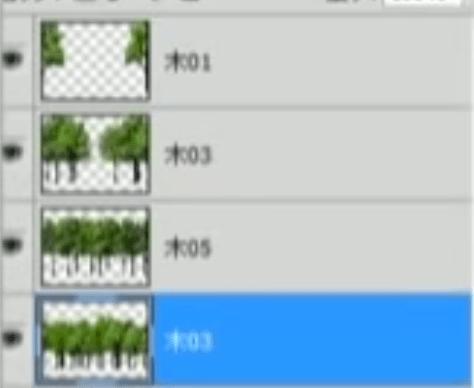 樹のレイヤーを作成する