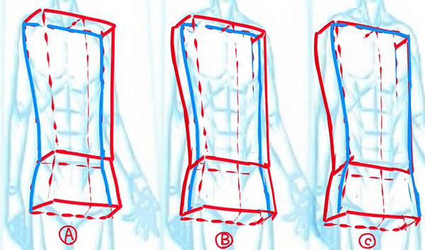 胴体を描く