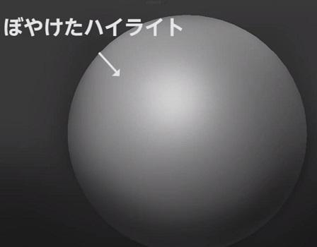 球体にハイライトを入れる