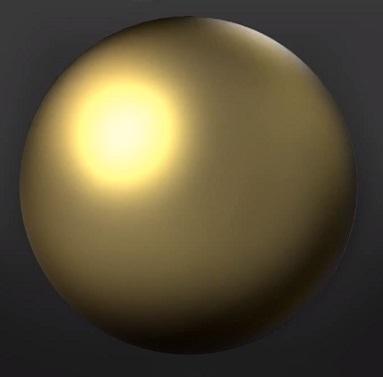 黄金の金属のイラスト