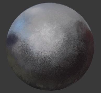 球体表面の質感を表現