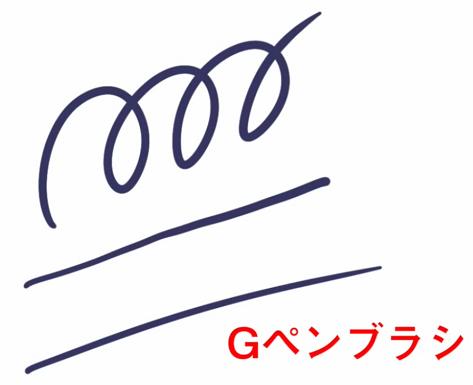 Gペンのブラシ