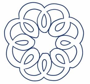お花柄のブローチ