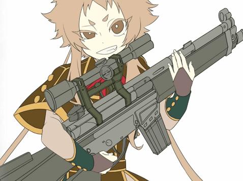 キャラクターと武器を合成する