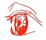 ハート型の目