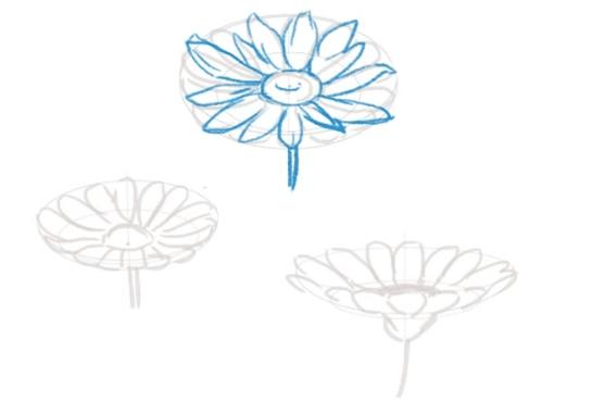 花びらをいびつにする