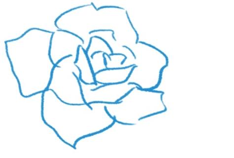 バラの花びらを修正