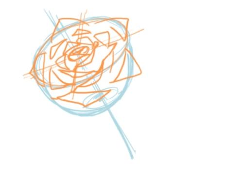 バラを描く方法
