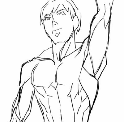 腕を挙げた時の筋肉