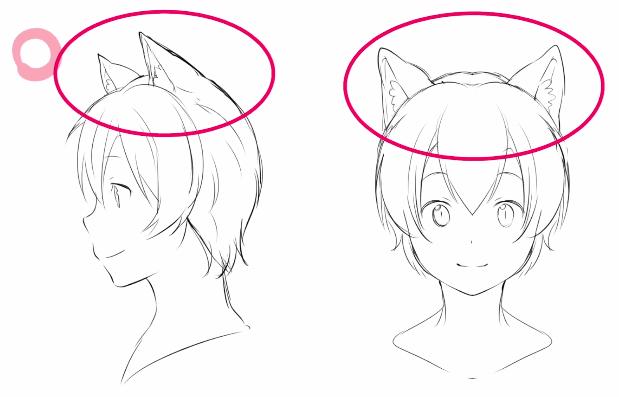 良い猫耳の例
