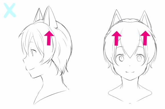 ダメな猫耳の例