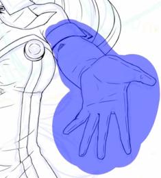 キャラクターの腕の位置を調整する