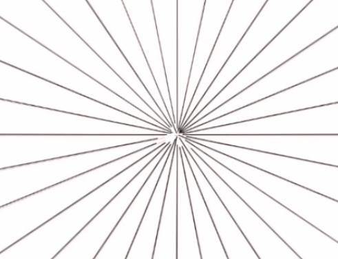 スナップで集中線を描く