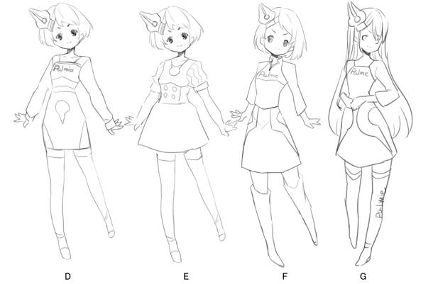キャラクターデザインの案
