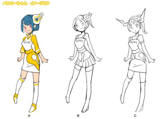 キャラクターデザインの決定