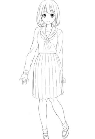 セーラーを着た女の子