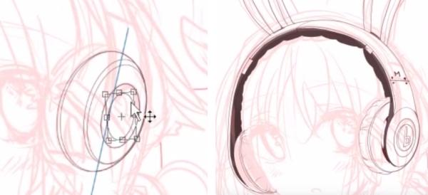 鉛筆ツールで細かい部分を描く