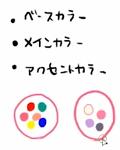 三つの色を決めて配色する