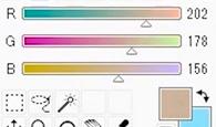 RGBの数値の幅が狭いと淡い色になる