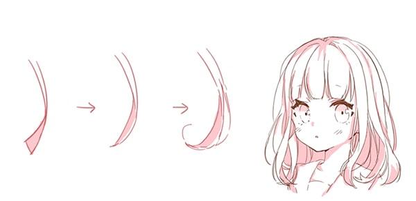 髪の毛の描き方講座。女の子の前髪・ロングのコツとは?|お