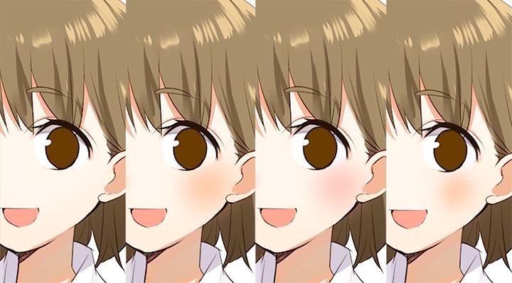 頬の色の違い