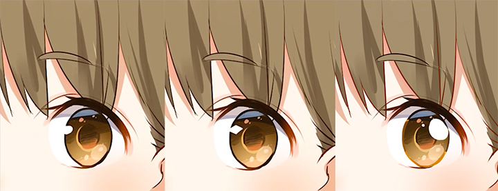 目のハイライト