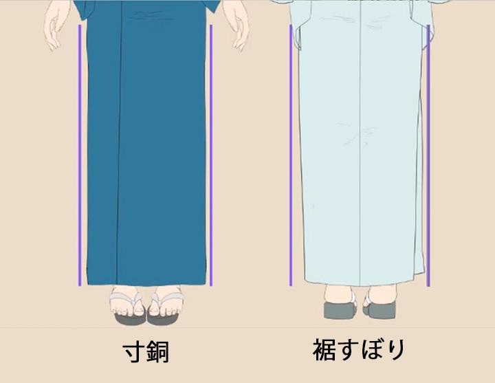 寸動と裾すぼり