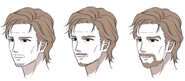 男性キャラクターの描き方講座 , 顔・髪・身体編 ,|お絵かき