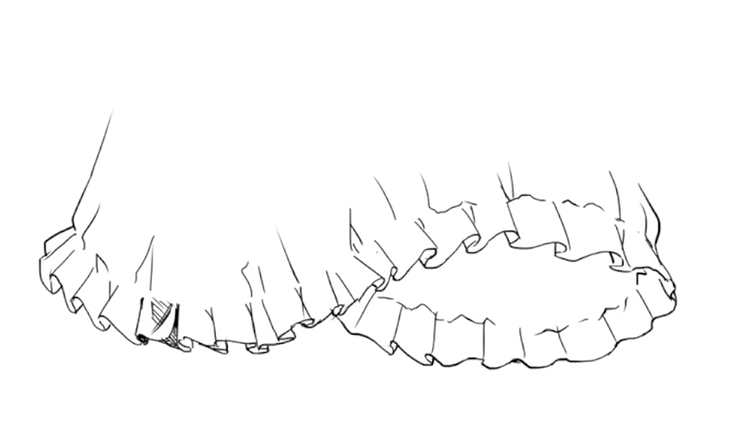 フリル の 描き 方