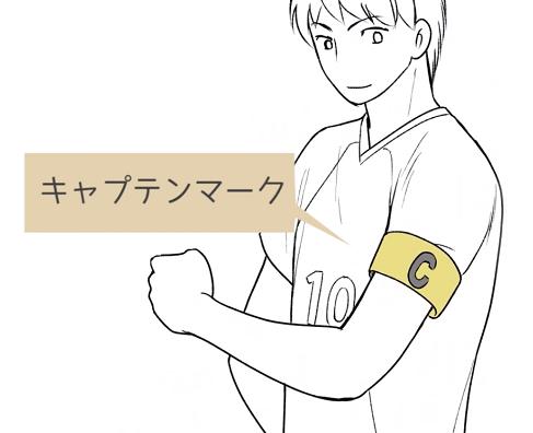 キャプテンの付ける腕章