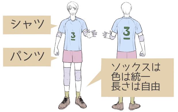 バレーユニフォームの構成