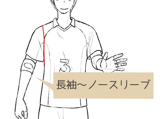 シャツの袖の長さは自由