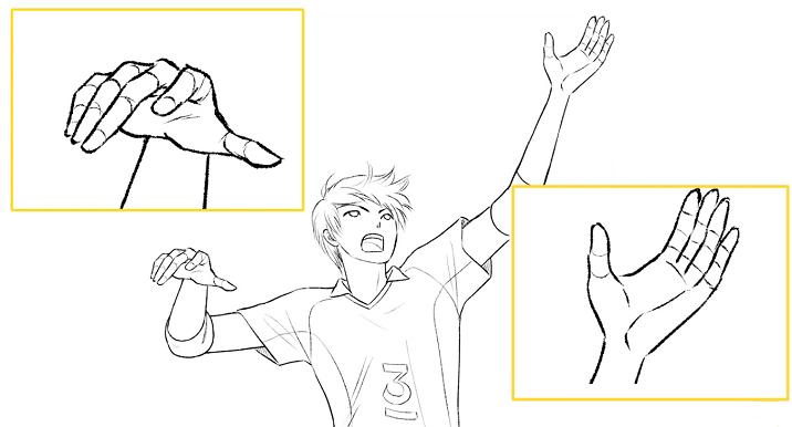 手の形と指の表情に気を使う