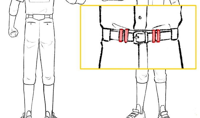 パンツのベルト通しの形