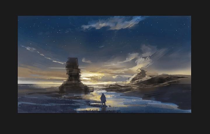 夜空に星を描く