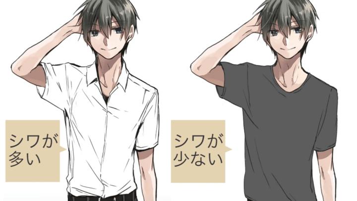 TシャツとYシャツのシワの違い