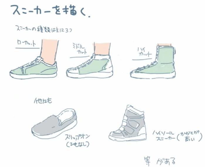 スニーカーの種類