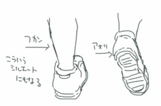 アオリやフカンの靴