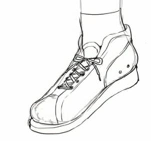 スニーカーの線画