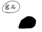 岩の形を描く