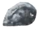 青っぽく岩を塗る