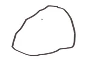 岩の形を取る